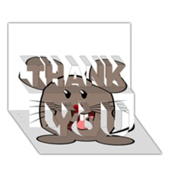 Raton Mouse Christmas Xmas Stuffed Animal Thank You 3d Greeting Card (7x5)