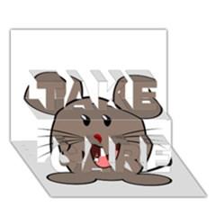 Raton Mouse Christmas Xmas Stuffed Animal Take Care 3d Greeting Card (7x5)