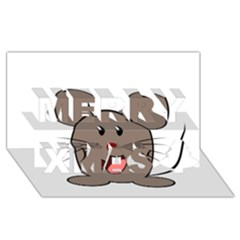 Raton Mouse Christmas Xmas Stuffed Animal Merry Xmas 3d Greeting Card (8x4)