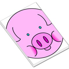 Pink Pig Christmas Xmas Stuffed Animal Large Memo Pads