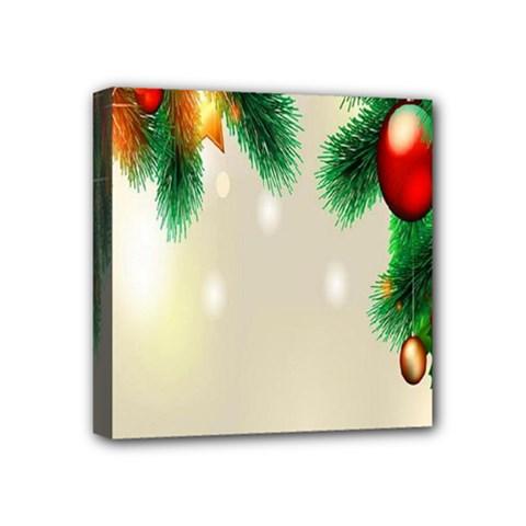Ornament Christmast Pattern Mini Canvas 4  X 4