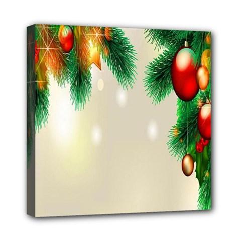Ornament Christmast Pattern Mini Canvas 8  X 8
