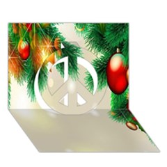 Ornament Christmast Pattern Peace Sign 3d Greeting Card (7x5)