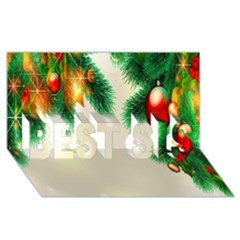 Ornament Christmast Pattern BEST SIS 3D Greeting Card (8x4)