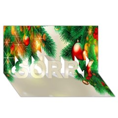 Ornament Christmast Pattern Sorry 3d Greeting Card (8x4)