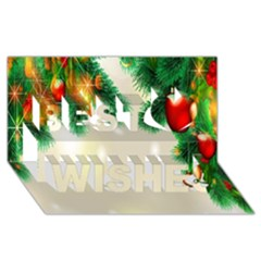 Ornament Christmast Pattern Best Wish 3d Greeting Card (8x4)