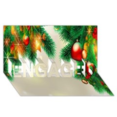 Ornament Christmast Pattern ENGAGED 3D Greeting Card (8x4)