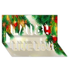 Ornament Christmast Pattern Laugh Live Love 3d Greeting Card (8x4)