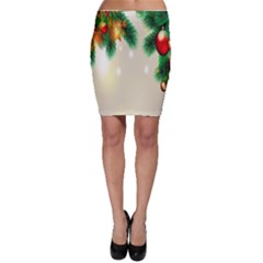 Ornament Christmast Pattern Bodycon Skirt