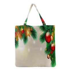 Ornament Christmast Pattern Grocery Tote Bag