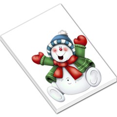 Snowman With Scarf Large Memo Pads
