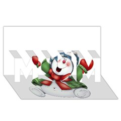 Snowman With Scarf Mom 3d Greeting Card (8x4)