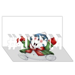 Snowman With Scarf #1 Mom 3d Greeting Cards (8x4)