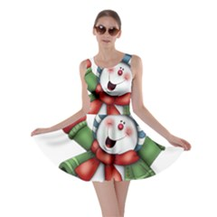 Snowman With Scarf Skater Dress