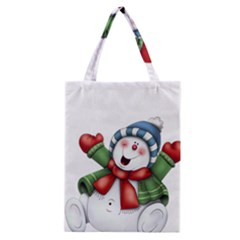 Snowman With Scarf Classic Tote Bag