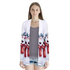 Snowman With Scarf Cardigans