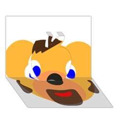 Solidarity Clipart Bear Head Teddy Bear Xmas Christmas Stuffed Animal Apple 3d Greeting Card (7x5)