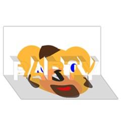 Solidarity Clipart Bear Head Teddy Bear Xmas Christmas Stuffed Animal Party 3d Greeting Card (8x4)