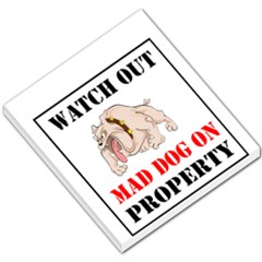 Watch Out Mad Dog On Property Small Memo Pads