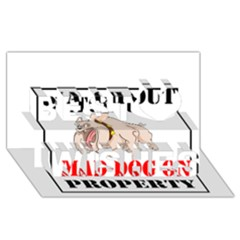 Watch Out Mad Dog On Property Best Wish 3d Greeting Card (8x4)
