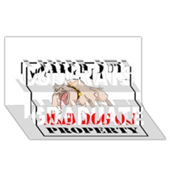 Watch Out Mad Dog On Property Congrats Graduate 3d Greeting Card (8x4)