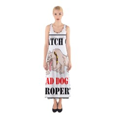 Watch Out Mad Dog On Property Sleeveless Maxi Dress