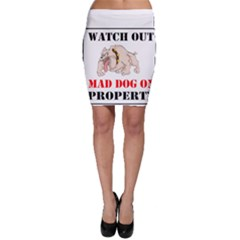 Watch Out Mad Dog On Property Bodycon Skirt