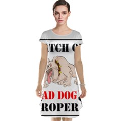 Watch Out Mad Dog On Property Cap Sleeve Nightdress