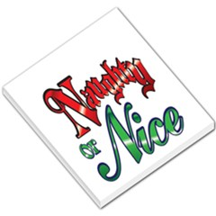 Vintage Christmas Naughty Or Nice Small Memo Pads