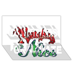 Vintage Christmas Naughty Or Nice Congrats Graduate 3d Greeting Card (8x4)