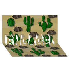 Cactuses Engaged 3d Greeting Card (8x4)