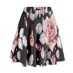 Vintage Flower  High Waist Skirt