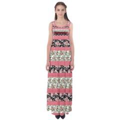 Cute Flower Pattern Empire Waist Maxi Dress
