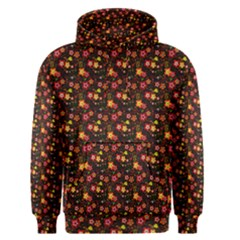 Exotic Colorful Flower Pattern  Men s Pullover Hoodie