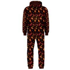 Exotic Colorful Flower Pattern  Hooded Jumpsuit (Men)