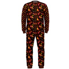 Exotic Colorful Flower Pattern  OnePiece Jumpsuit (Men)