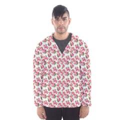 Gorgeous Pink Flower Pattern Hooded Wind Breaker (Men)