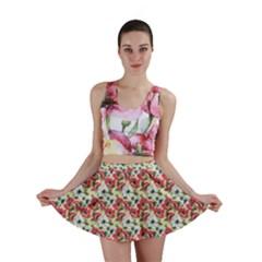 Gorgeous Red Flower Pattern  Mini Skirt
