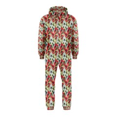 Gorgeous Red Flower Pattern  Hooded Jumpsuit (Kids)