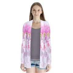 Cute Pink Flower Pattern  Cardigans