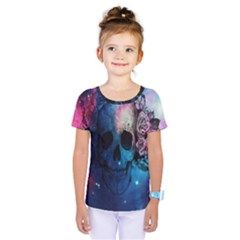 Colorful Space Skull Pattern Kids  One Piece Tee