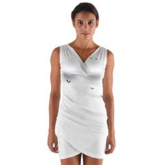Fly Wrap Front Bodycon Dress