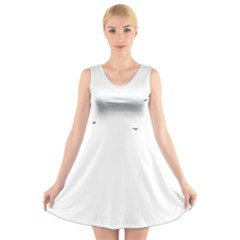 Fly V-Neck Sleeveless Skater Dress