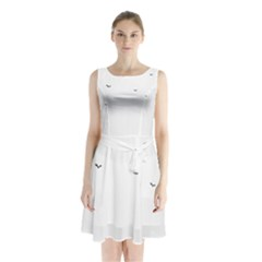 Fly Sleeveless Chiffon Waist Tie Dress