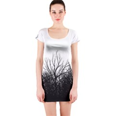 Forest Short Sleeve Bodycon Dress