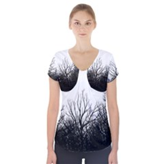 Forest Short Sleeve Front Detail Top