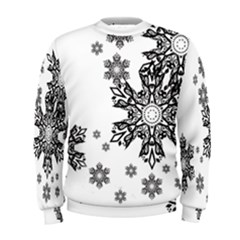 Black and white snowflakes Men s Sweatshirt