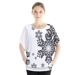Black And White Snowflakes Blouse
