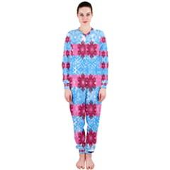 Pink Snowflakes Pattern OnePiece Jumpsuit (Ladies)