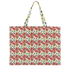 Gorgeous Red Flower Pattern  Large Tote Bag